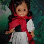Кукла 3М гдр редкая зубки Еngel винил немецкая Германия 30 см Красная Шапочка Брюнетка