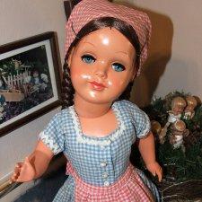Целлулоидная немецкая кукла 50-ых годов от Adolf Steiner. Клеймо.