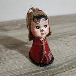 Антикварная, стилизованная кукла из пресс опилок