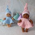 Распродажа! Комплект одежды (платьице и шапочка) для куклы - пупса 18-20 см