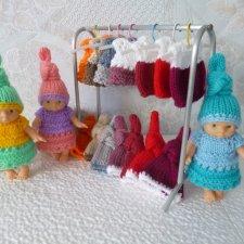Вязаная одежда для кукол и пупсов из пряжи Детская новинка