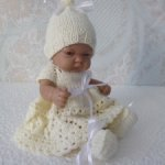 Комплект одежды для куклы-пупса 26 см (слив.)