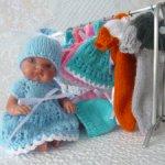 Распродажа! Платьице и шапочка для куклы-пупса А.Хуан 21 см (Пепита)