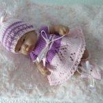 Комплект одежды для куклы-пупса 26 см (роз.)