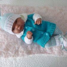 Комплект одежды для куклы-пупса 30-33 см (голуб)