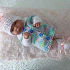 Комплект одежды для куклы-пупса 30-33 см (меланж)