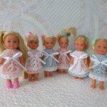 Платьица для куколок Еви (11 см)
