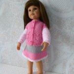 Комплект одежды для куклы формата Готц 45 см роз.