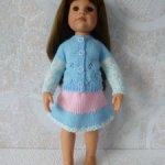 Комплект одежды для куклы формата Готц 45 см гол.