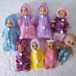 Одежда для куклы-пупса 12 см и пеленашек (конвертик) скидка