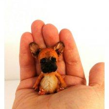 Маааленький щеночек французского бульдога - игрушки Лилии Василик