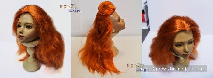 парик из ангорской козы для нарае на жесткой флизелиновой шапочке