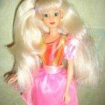 Кукла по типу  барби из 90-х. С вставными глазами . Очень редкая .