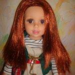 Кукла с мягким телом и акриловыми глазами. 45 см . Не игранная