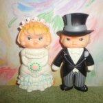 Винтажные резиновые жених и невеста 1976г.