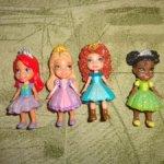 Куклы принцессы диснея 7,5 см. В идеале. Лот