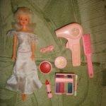 Кукла санди невеста из 90-х. Частично с набором . Б/у