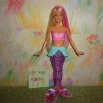 Кукла барби русалка с мерцающим хвостом .