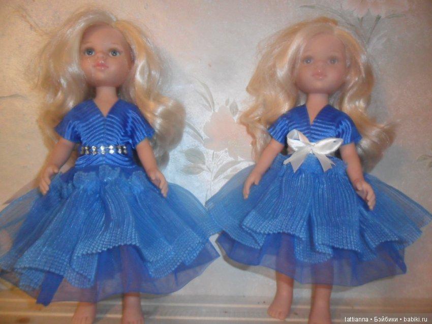 Платье для куклы Бирюза
