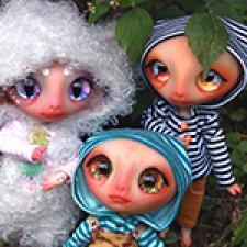Овечка, брючки и комбинезон. Авторские куклы