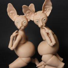 Шарнирная кукла Сфинкс 30 см. С вставными глазами 8 мм. Автор Юлия Нечаева