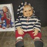 Редкая позитивная кукла Joschi от Brigitte Leman/Zapf Creation. Полный аутфит!Рассрочка!
