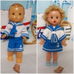 Одежда для кукол в морском стиле