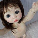 Авторская шарнирная куколка Лань