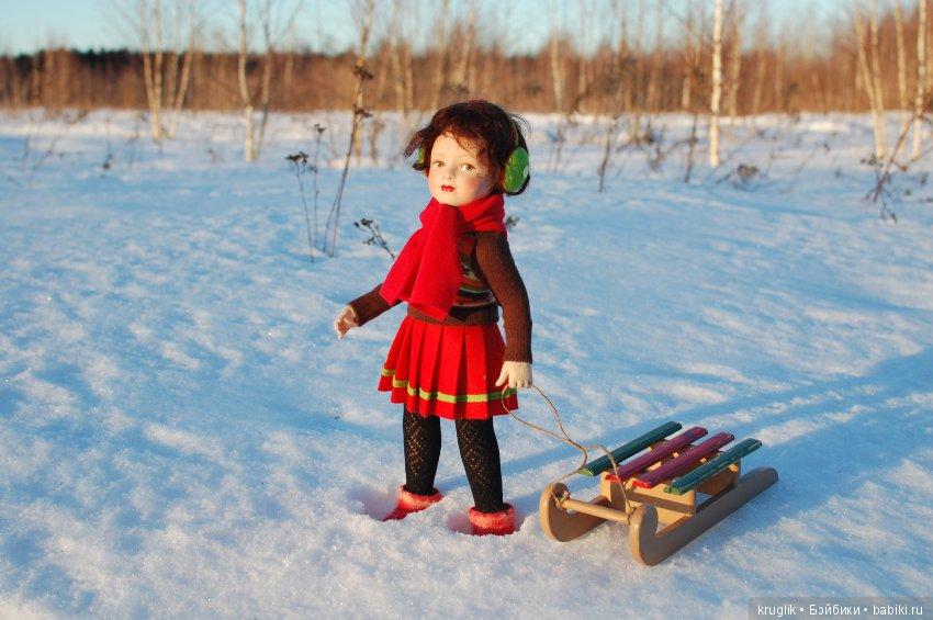 санки для куклы