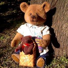 Маленькая история о большом мишке, игрушки Федоровой Надежды
