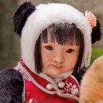 Ван Сяо Хэ, авторская кукла тедди долл панда
