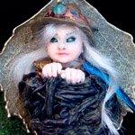 Фея Элинор, изумрудная стражница. Авторская миниатюра