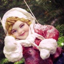 Варенька, авторская ватная куколка
