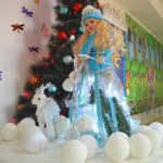 Снегурочка в сияющем платье