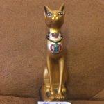 Статуэтка кошка египетская  золотая