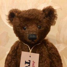 Шоколадный авторский медведь Гюнтер с ревуном