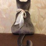 Авторский интерьерный кот с бантом