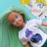 Винтажная сестренка Барби Скиппер с перепрошивкой