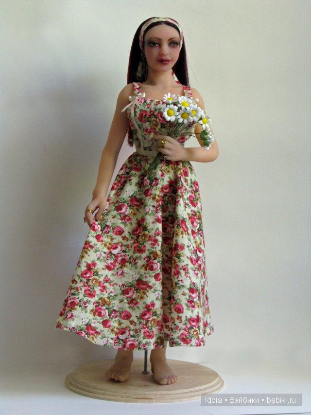 Авторская силиконовая кукла на подвижном каркасе
