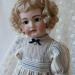 Платье  для антикварной куклы или реплики ростом 65-70 см.
