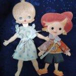 Плоские куклы СССР, одним  лотом, доставка в цене