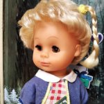 Куколка ГДР 40 см, с редким  молдом, бежевый винил,80-е