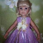 Вечернее платье для Готс (46см) и кукол подобных размеров.