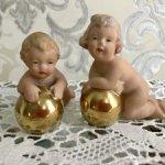Антикварные путти  с золотыми шарами.Геральд!Редкость  Бавария