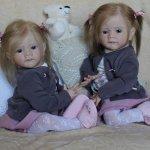 Мои сестрички Аня и Яна! Куклы реборн Шепелевой Людмилы