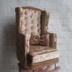 """Английское ушастое кресло """" Монтелье"""". Для кукол от 27 до 36 см"""
