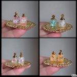 """Парфюмерные наборы """"Флер""""- 2 флакона духов+поднос для них+гребень(или кандзаси)Куклам от 25 до 40 см"""