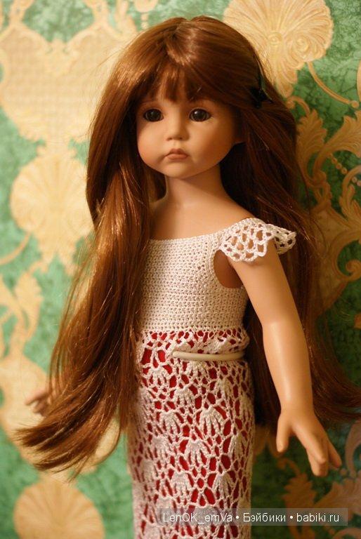 Нарядное платье для куклы от Линды Рик