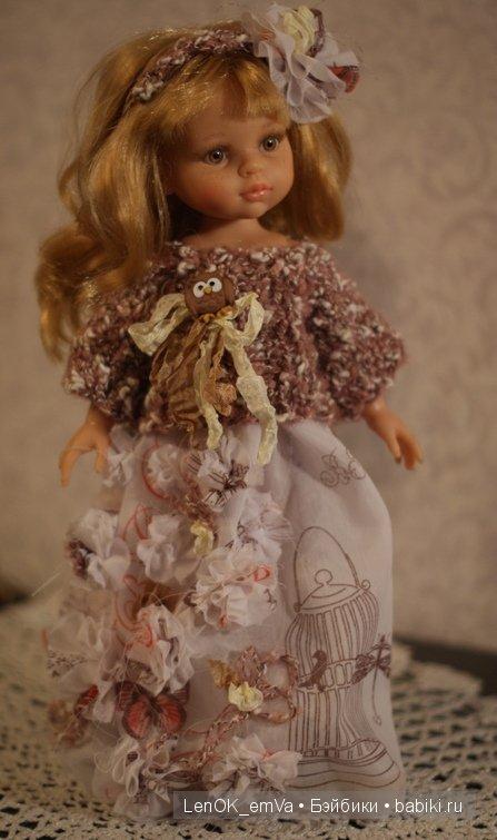 Платье с вязаным болеро для Паолы