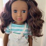 """Ikuzi Doll кукла с коричневыми волосами и глазами, 18"""""""